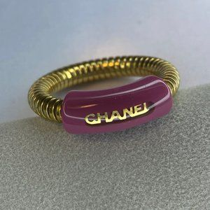 Chanel Gold Pink 01p Coco Ring Size 6.5